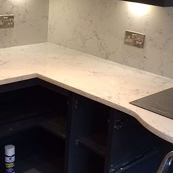 kitchen worktop and hob